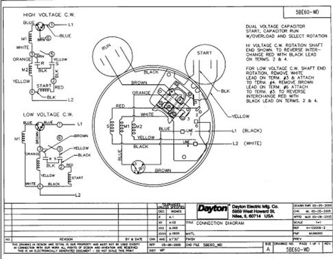 1.5 HP Direct Drive Blower Cap Start Motor 1725 RPM 115