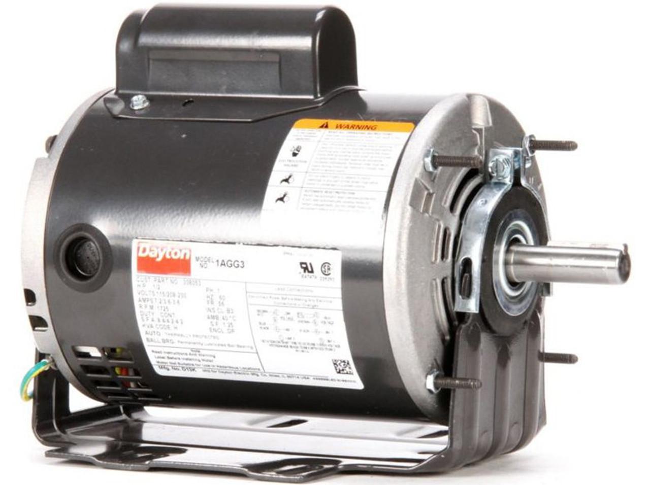 1/2 hp Belt Drive Blower Cap Start Motor 1725 RPM 115/208-230V Dayton Dayton Unit Heater Wiring Diagram Uf on