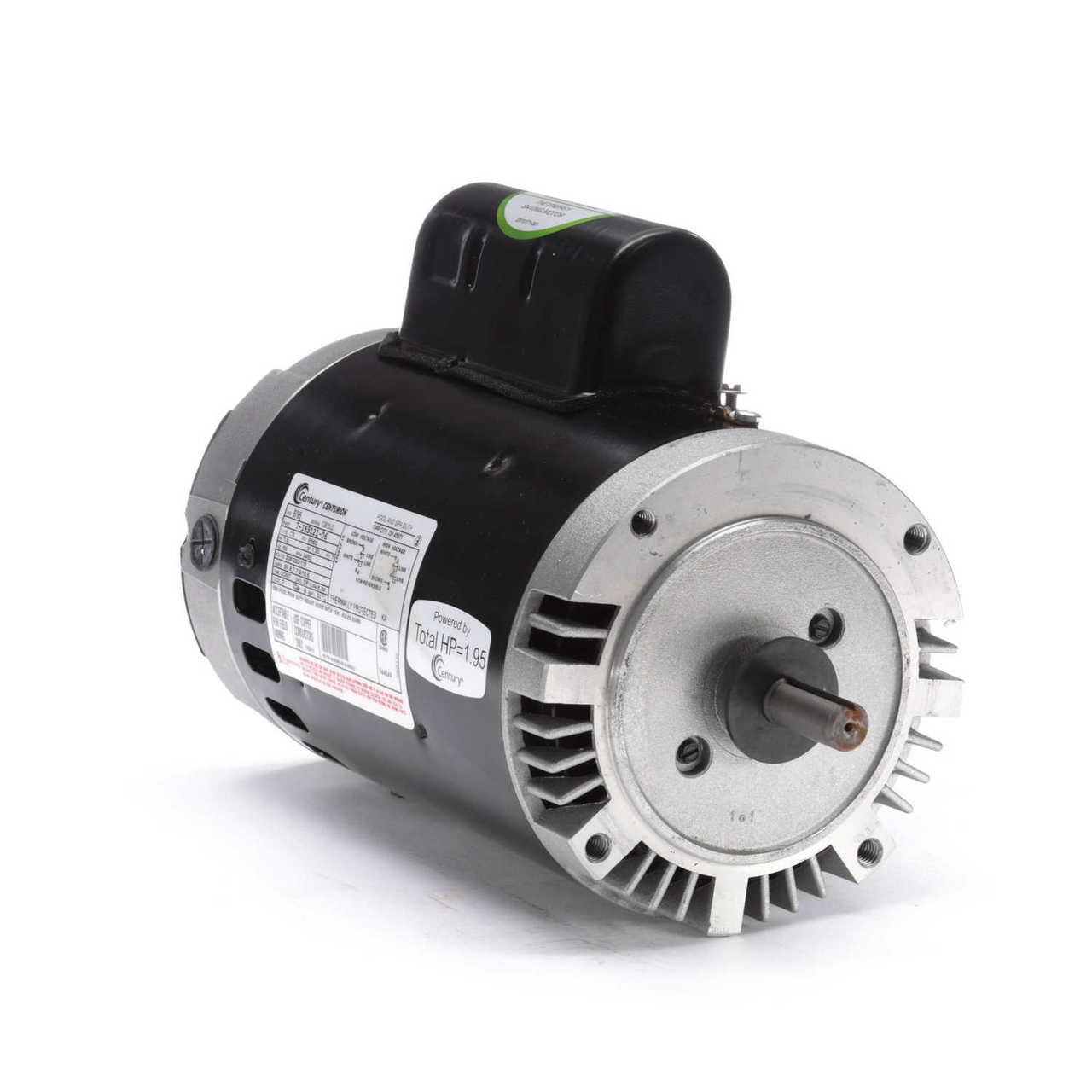 CENTURY B796 Pool Motor,1.5 HP,3450 RPM,115//208-230V