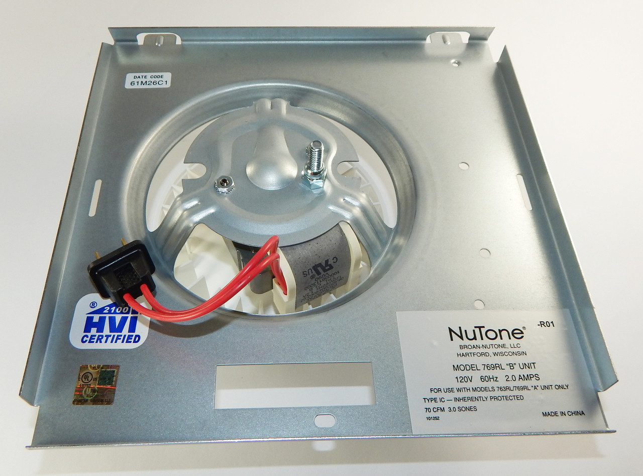 Nutone Fan Power Unit Assembly S0504b000