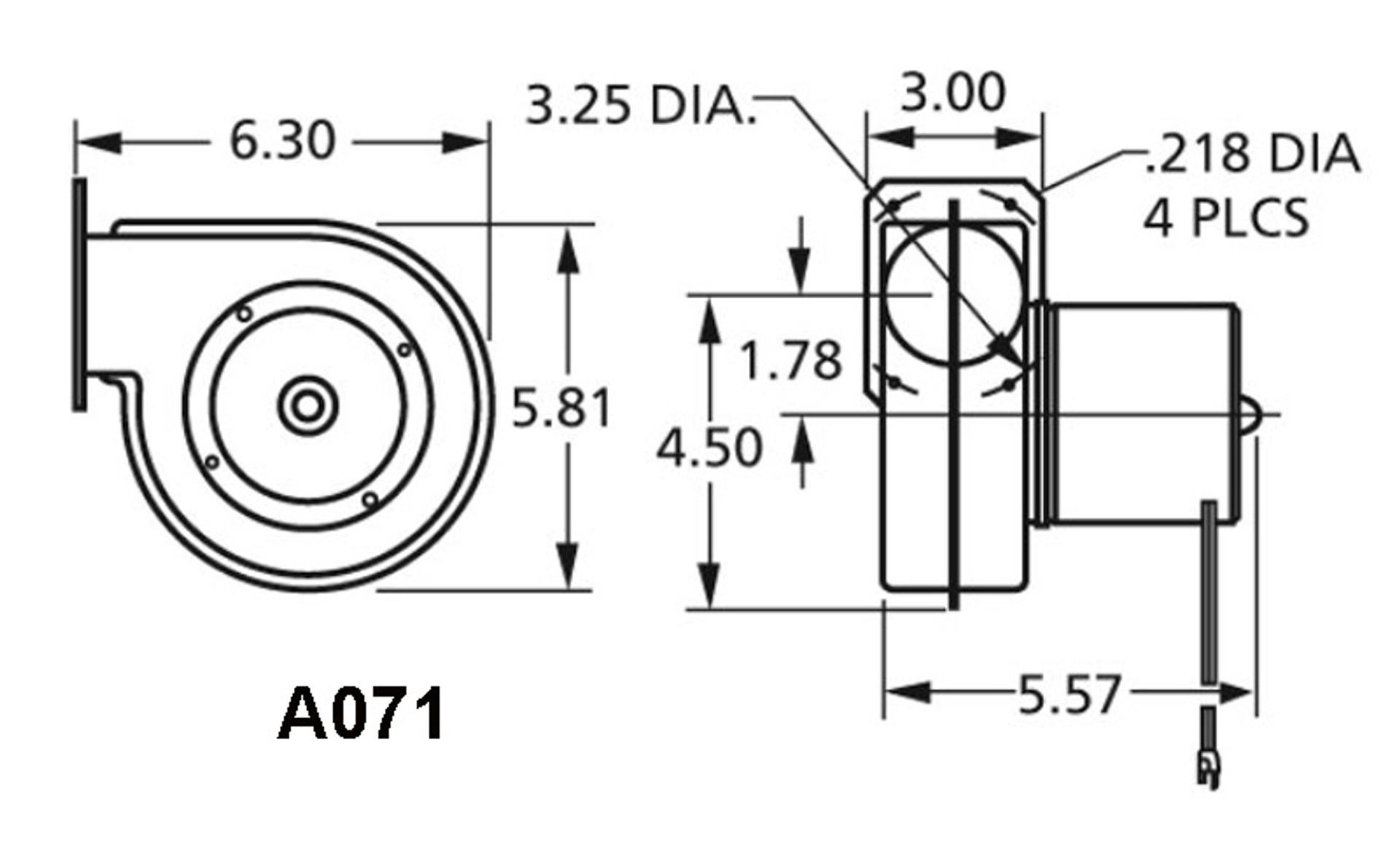 Fasco A071 Centrifugal Blower 115 Volts (7021-7371)