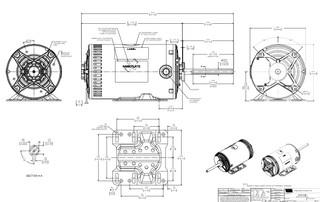 H1052RBV1 Century 2 hp 3-phase 200-230/460V 1200 RPM OPAO
