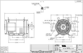 GT0059 Marathon 15 hp 1800 RPM 254T Frame 230/460V Open