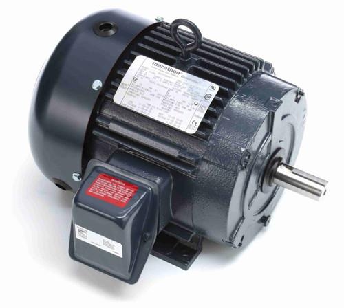 1.5 hp 1200 RPM 182T Frame 230/460V TEFC Marathon Electric Motor # GT1005A
