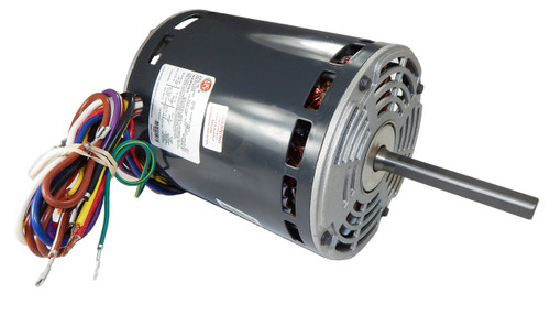"2553 Nidec | 1 hp 1100 RPM 3-Speed 460V; 5.6"" Blower Motor"