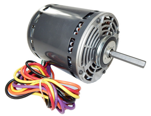 "8064 Nidec | 1/2 hp 825 RPM 3-Speed 208-230V; 5.6"" Blower Motor"