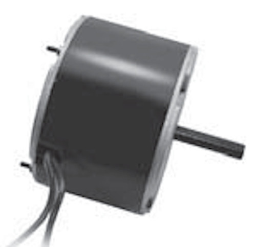 "9735 Nidec | 1/8 hp 825 RPM 2-Speed 208-230V; 5.6"" Condenser Motor"