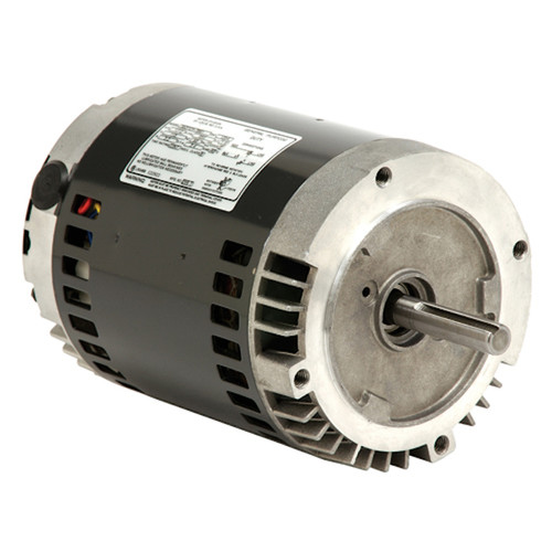 "1847 Nidec | 1/3 hp 1735/1140 RPM 2-Speed 115V; 6.5"" Blower Motor"