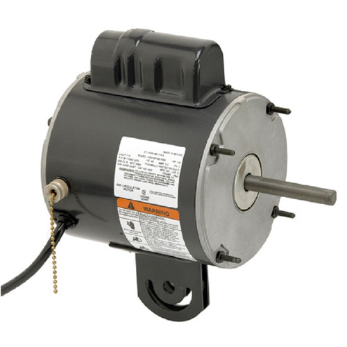 "1931 Nidec | 1/4 hp 1100 RPM 2-Speed 115V; 5.6"" Yoke Mount Fan Motor"