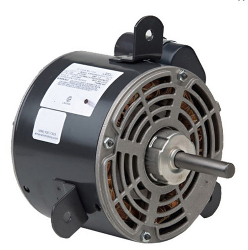 "1354 Nidec | 1/3 hp 1075 RPM 2-Speed 208-230V; 5.6"" Condenser Motor"