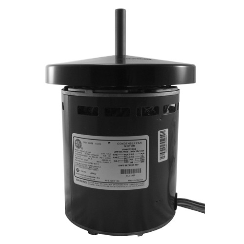"1173 Nidec | 1 hp 1075 RPM 1-Speed 575V; 5.6"" Condenser Motor"
