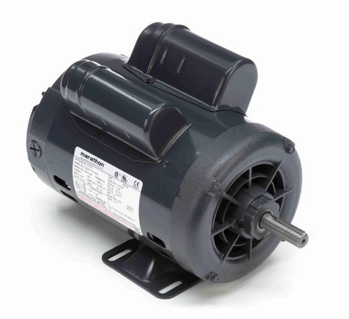 1 hp 1800 RPM 56 Frame 115/230V Open Drip Marathon Electric Motor # C181A