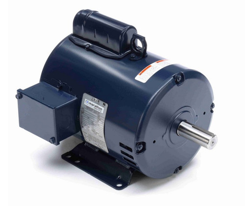 1 hp 1200 RPM 182T Frame 115/230V Open Drip Marathon Electric Motor # I141A