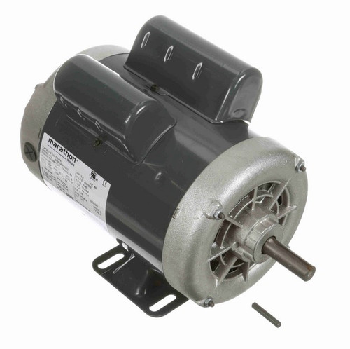 1 1/2 hp 3600 RPM 56 Frame 115/230V Open Drip Marathon Electric Motor # G937A