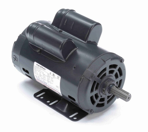 C193A Marathon 2 hp 1800 RPM 56 Frame 115/230V Open Drip Marathon Electric Motor