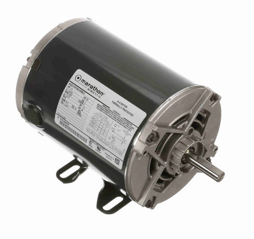 1/3 hp 1500 RPM 48 Frame 110/220V Open Drip Marathon Electric Motor # H691