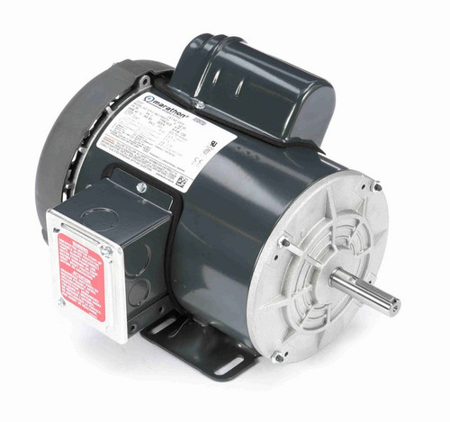 G373 Marathon 1 hp 1800 RPM 56 Frame 115/208-230V Totally Enclosed Marathon Electric Motor