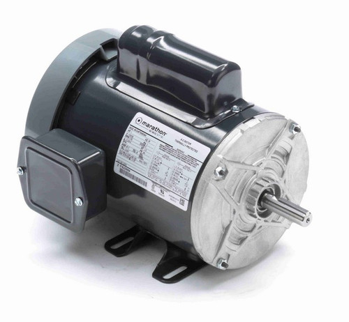 C276 Marathon 1 hp 1800 RPM 56 Frame 115/230V Totally Enclosed Marathon Electric Motor