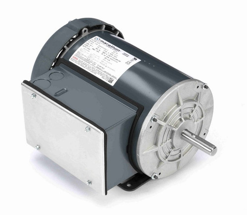 1 1/2 hp 3600 RPM 56 Frame 115/208-230V Totally Enclosed Marathon Electric Motor # G374