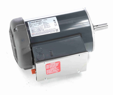 I201 Marathon 1 1/2 hp 1800 RPM 145T Frame 115/208-230V Totally Enclosed Marathon Electric Motor