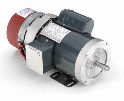 1 hp 1800 RPM 56C Frame 115/208-230V Totally Enclosed Marathon Electric Brake Motor # D403