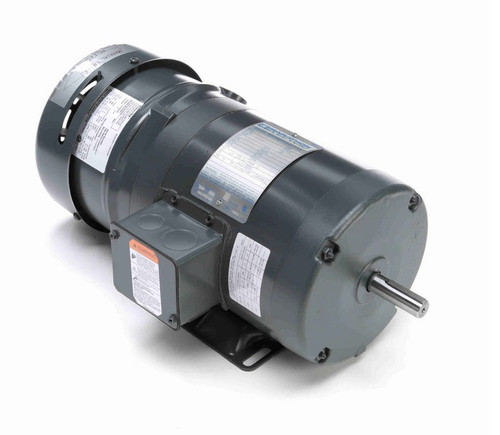 1/2 hp 3 phase 1200 RPM 56 Frame 230/460V TEFC Marathon Electric Brake Motor # K526