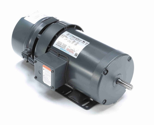 1 hp 3 phase 1800 RPM 56 Frame 230/460V TEFC Marathon Electric Brake Motor # K459A