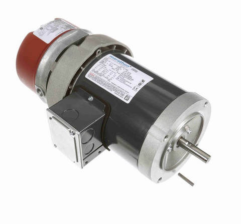 K468 Marathon 1/2 hp 3 phase 1800 RPM 56C Frame 208-230/460V TEFC Marathon Electric Brake Motor