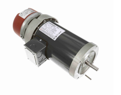 1 hp 3 phase 1800 RPM 56C Frame 230/460V TEFC Marathon Electric Brake Motor # K472