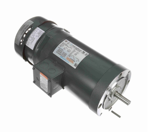 1 1/2 hp 3 phase 1800 RPM 56C Frame 230/460V TEFC Marathon Electric Brake Motor # K1494