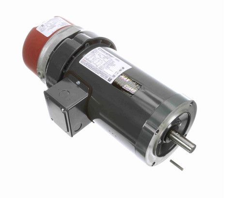 1 1/2 hp 3 phase 1800 RPM 145TC Frame 230/460V TEFC Marathon Electric Brake Motor # K474
