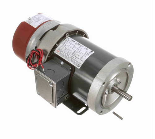 D451 Marathon 1/3 hp 3 phase 1200 RPM 56C Frame 208-230/460V TEFC Marathon Electric Brake Motor