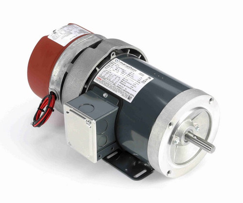 D452 Marathon 1/2 hp 3 phase 1800 RPM 56C Frame 208-230/460V TEFC Marathon Electric Brake Motor