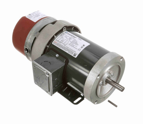 1/2 hp 3 phase 1200 RPM 56C Frame 208-230/460V TEFC Marathon Electric Brake Motor # D453