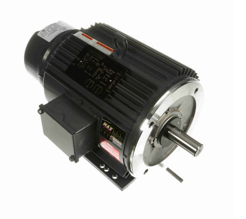 C402A Marathon 1 1/2 hp 3 phase 1200 RPM 184TC Frame 230/460V TEFC Marathon Electric Brake Motor