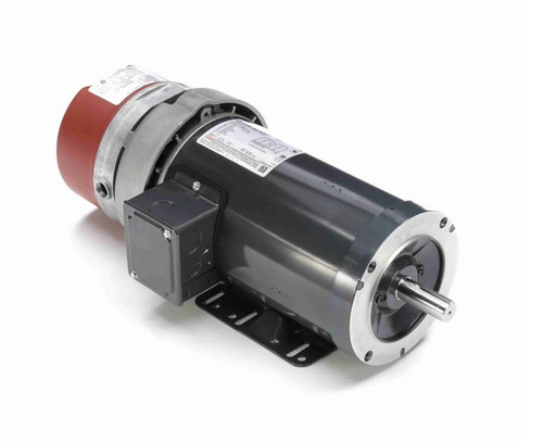 C403A Marathon 2 hp 3 phase 1800 RPM 145TC Frame 230/460V TEFC Marathon Electric Brake Motor