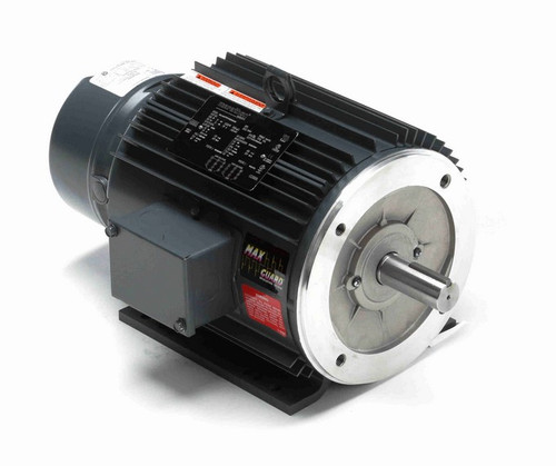 C404A Marathon 2 hp 3 phase 1200 RPM 184TC Frame 230/460V TEFC Marathon Electric Brake Motor
