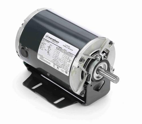 K1409 Marathon 3/4 hp 3 phase 3600 RPM 56 Frame 208-230/460V ODP Resilient Mount Marathon Motor