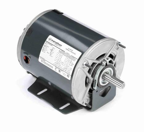 3/4 hp 1800 RPM 56 Frame 208-230/460V ODP Resilient Mount Marathon Motor # K1410