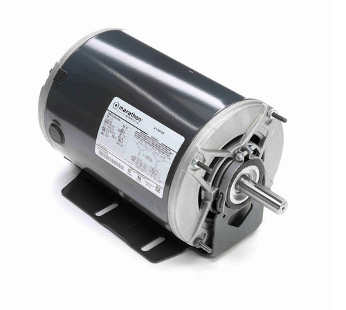1 -1/3 hp 3 phase 1800/1200 RPM 56 Frame 200-230V ODP Resilient Mount Marathon Motor # K518