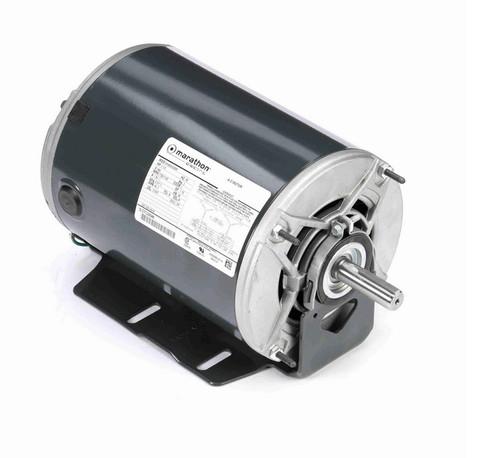 K519 Marathon 1 -1/3 hp 3 phase 1800/1200 RPM 56 Frame 460V ODP Resilient Mount Marathon Motor