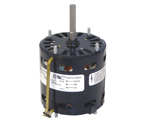 "Fasco D332 Motor | 1/25 hp 1500 RPM 2-Speed CW 3.3"" Diameter 115 Volts"