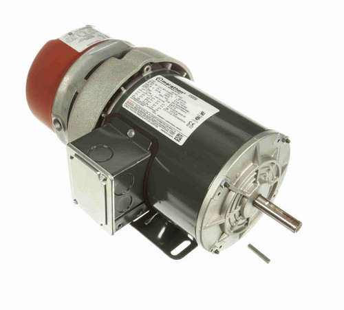 1/2 hp 3 phase 1200 RPM 56C Frame 230/460V TEFC Marathon Electric Brake Motor # K435