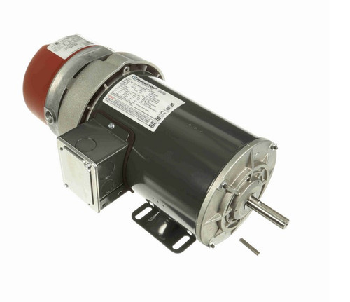 1 hp 3 phase 1800 RPM 56C Frame 230/460V TEFC Marathon Electric Brake Motor # K438