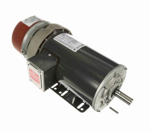 1 hp 3 phase 1200 RPM 145TC Frame 230/460V TEFC Marathon Electric Brake Motor # K2044