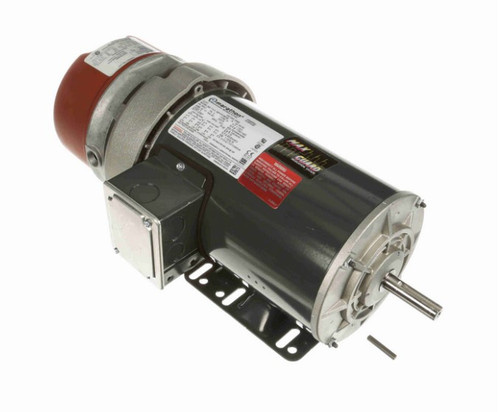 1 1/2 hp 3 phase 1800 RPM 56C Frame 230/460V TEFC Marathon Electric Brake Motor # K440