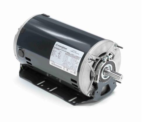 K1418 Marathon 2 hp 3 phase 1800 RPM 56 Frame 208-230/460V ODP Resilient Mount Marathon Motor