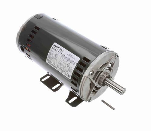 K1497 Marathon 3 hp 3 phase 1800 RPM 56 Frame 208-230/460V Open Resilient Mount Marathon Motor