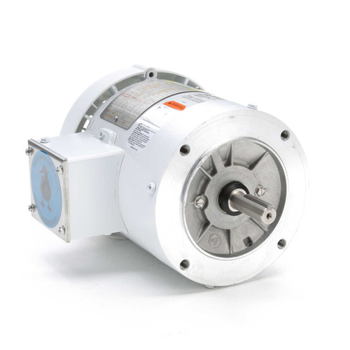 116644.00 Leeson |  1/2 hp 1800 RPM 56C Frame TEFC (no base) C-Face 208-230/460V Wash Down Duty