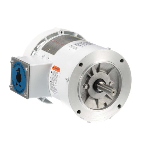 116645.00 Leeson |  3/4 hp 1800 RPM 56C Frame TEFC (no base) C-Face 208-230/460V Wash Down Duty